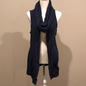 Ella Moss Vest with Scarf